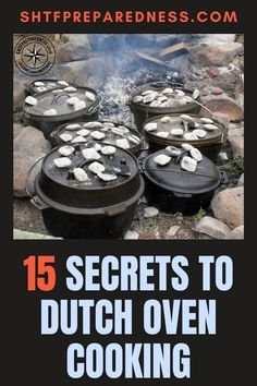 Take a look at these 15 secrets for Dutch oven cooking by SHTF Preparedness if you are looking for great outdoor cooking methods. Whether you use this method around the campfire, or in your backyard, you won't regret giving it a go. Have a look at this article for more information now. #dutchovencooking #dutchoven #outdoorcooking #outdoorcookingmethods