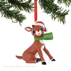 Rudolph Red Nose Reindeer Rudolph Dated Scarf 2015 Ornament 4050249 NEW 2015
