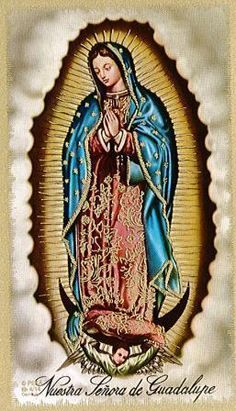Prayer to Our Lady of Guadalupe Laminate Holy Card Blessed Mother Mary, Blessed Virgin Mary, New Year Poem, Immaculée Conception, Lady Guadalupe, Jesus Christ Images, A Level Art, Holy Mary, Dear God