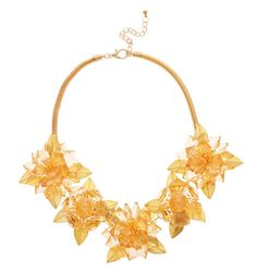 GOLD CRYSTAL FLOWER NECKLACE Reference:  A15051034
