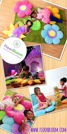 Floor pillows by Floor Bloom are designed just for kids but with moms in mind! Kids love the fun, realistic shapes, super-soft fabric and bright colors. Moms love that these floor pillows help protect their rugs and floors. Plus kiddos will leave your nice throw pillows alone when they have pillows of their own!
