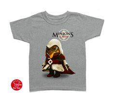 Minions Creed Kids T Shirt Gray