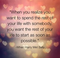 """When Harry met Sally"" quote"