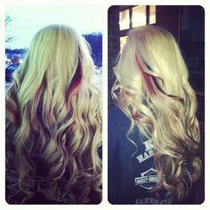 Blonde, red,&black color