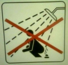 Shower Pooping Not Allowed! #funnysigns