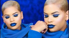 Feeling The Blues | Monochromatic Blue Makeup Look - YouTube