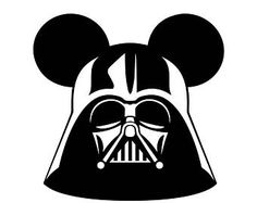 Disney Star Wars Darth Vader Mickey Ears Iron On  Heat Transfer Vinyl for Shirts, Bags, Pillows   Fish Extender Gift   DCL   Mickey