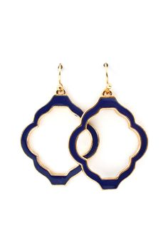 Madison Cutout Earrings in Royal on Emma Stine Limited