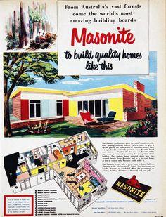 1955 homes, Australia. Repinned by Secret Design Studio, Melbourne. www.secretdesignstudio.com