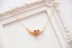 """An stunning and dainty necklace that will satisfy your inner kawaii moon princess. 27 Magical Gifts For People Who Love """"Sailor Moon"""" Sailor Moon Schmuck, Sailor Moon Jewelry, Cute Necklace, Moon Necklace, Dainty Necklace, Charm Necklaces, Goodies Manga, Filles Alternatives, Sailor Moon Merchandise"""