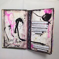 @popleopod  | A book about words | Abstract Pattern Inspiration | Season of Words | Get Messy Art Journal