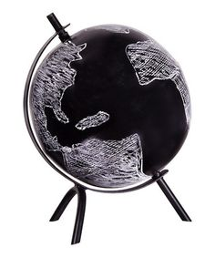 Take a look at this Black 8'' Chalkboard Globe by Home Essentials and Beyond on #zulily today! $28 !!