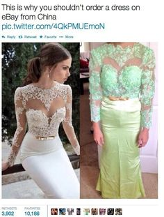 Anyone who has bought a dress on eBay: | 21 People Who Immediately Learned Their Lesson