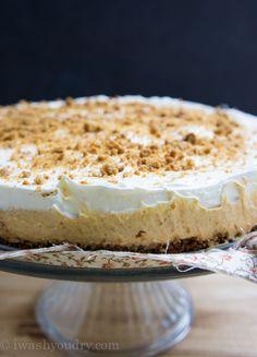 No Bake Pumpkin Cheesecake with a gingersnap crust!