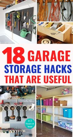 These 18 garage organization hacks will solve all your problems. The BEST ways to organize your garage that will save your sanity! Diy Garage Storage, Storage Hacks, Container Organization, Garage Organization, Diy Home Decor On A Budget, Easy Home Decor, Declutter, Organize, Garage Makeover