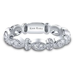 A beautiful and unique wedding band by Kirk Kara.