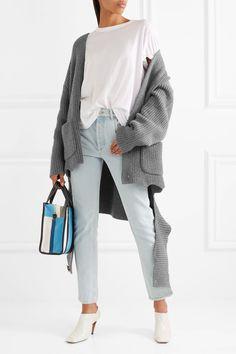 Balenciaga   Oversized draped ribbed cashmere-blend cardigan   NET-A-PORTER.COM