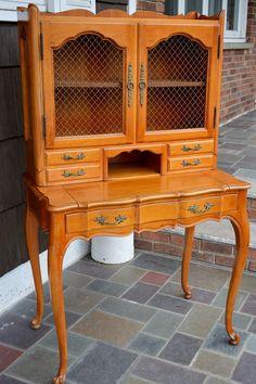French Provincial Petite Secretary Desk by VRDesigners on Etsy, $700.00
