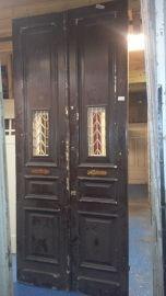 nr. set431 set hoge deuren met rooster | Dubbele deuren, setjes kastdeuren | Oudedeur - paneeldeuren :