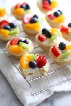 Mini Sugar Cookie Fruit Tarts!
