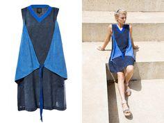 SUMMER SALE 30 % Off ! Blue Summer Dress /Blue Navy Dress / Multi Way Dress / Knee Length Dress / Convertable dress / Vegan fashion /Tangens