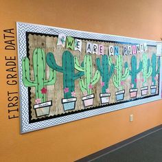 Cactus bulletin board classroom decor and bulletin boards ка Classroom Decor Themes, Classroom Organization, Themes For Classrooms, Elementary Classroom Themes, Classroom Ideas, Elementary Library, Classroom Displays, Elementary Education, Classroom Management