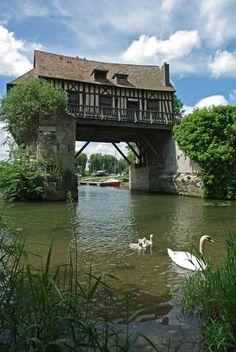 The 16th century Vernon Mill - Vernon, Haute-Normandie, France