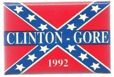 BILL-CLINTON-AL-GORE-CONFEDERATE-BATTLE-FLAG-POLITICAL-PIN