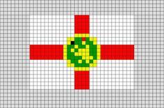 Flag of Alderney Pixel Art from BrikBook.com #Alderney #flagofAlderney #Riduna #StatesofAlderney #ChannelIslands #pixel #pixelart #8bit Shop more designs at http://www.brikbook.com