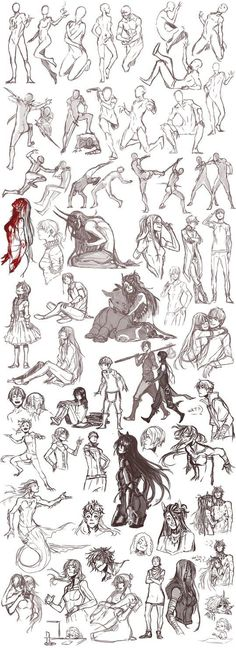 ideas drawing poses reference anime deviantart for 2019 Manga Poses, Anime Poses, Drawing Reference Poses, Draw Chibi, Sketch Poses, Sketch Ideas, Arte Sketchbook, Poses References, Gesture Drawing