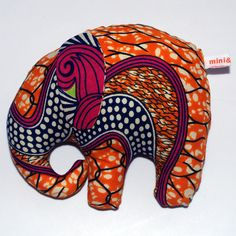 Plush Elephant African Batik