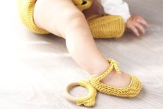 Knitted Baby Shoes – Ballerinas Easy Pattern & Tutorial