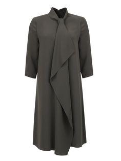 Купить Max Mara зеленое платье свободное кроя с драпировкой (166981), цена на платье в интернет-магазине Bosco.ru – 42 700 руб.