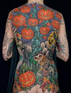 Halloween is coming and people find to do something great on this event. MindBlowra share a collection of 69 best Halloween tattoos ideas for men and women. Back Tattoos, Love Tattoos, Beautiful Tattoos, Body Art Tattoos, Awesome Tattoos, Tatoos, Beautiful Body, Tattoo Art, Inspiring Tattoos