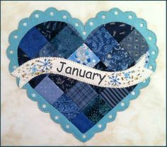 Celebrate the Year - January Kit: Celebrate the Year is a Shabby Exclusive designed by Jennifer Bosworth! Create adorable seasonal decor for your home by framing it, making a pillow, or making a quilt! Mug Rug Patterns, Quilt Patterns, January Baby, March 2014, Mug Rug Tutorial, Shabby Fabrics, Crazy Patchwork, Sampler Quilts, Labor