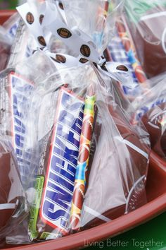 SNICKERS® Football Party Favors | Living Better Together #Chocolate4TheWin #shop