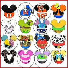 Mickey Character Heads
