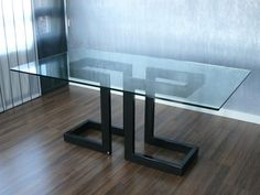 GLASS DINING TABLE LISA COLLECTION BY GONZALO DE SALAS