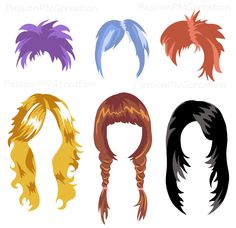free printable photo booth props hair - Google Search