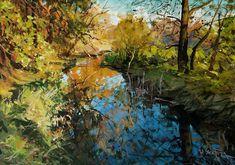 Réflexion Réflexion, peinture à l'huile, 50x70, sol