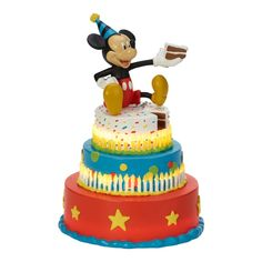 Remember a very special birthday for years to come with the Precious Moments Disney Mickey's Birthday Wishes LED Figurine. This super fun figurine features realistic candles that light up. The perfect gift for any Disney lover. Sweet Birthday Cake, Mickey Mouse Birthday Cake, Happy Birthday Cakes, Special Birthday, Birthday Wishes, Birthday Message, 10th Birthday, Birthday Quotes, Disney Cakes