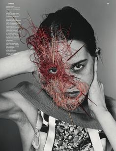 Brillant collaboration between Richard Burbridge, Robbie Spencer and Maurizio Anzeri for Dazed and Confused issue June 2011. Cool fashion photography + embroidery on top of the pictures.