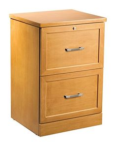 """OfficeMax Premium Light Cherry 2-Drawer Vertical File Cabinet, $109.99  19""""Wx17"""" Dx28""""H; this style, but paint / distress in black or charcoal. convert 1 top drawer to shelf/door for printer"""