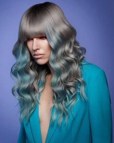 Pro Team and Design team collaboration. It's all about the team effort. Creative Hair Color, Creative Hairstyles, Holiday Looks, Silver Hair, Comfort Zone, Color Inspiration, Blue Grey, Long Hair Styles, Unique