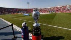 Copa America trophy and Cachana ball