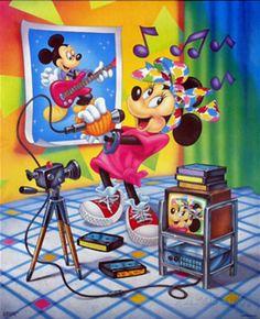Minnie Mouse Karaoke Poster