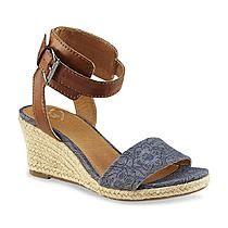 Madeline Women's Skate Blue/Tan Espadrille Wedge Sandal