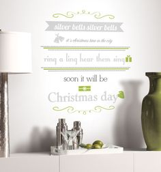 Silver Bells Quote Peel & Stick Metallic Wall Decals Wall Decal - at AllPosters.com.au