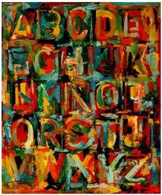 Jasper johns colored alphabet