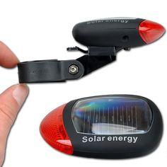 2 LED 3 Modos Brillante Energía Solar de la Bici de Montaña Lámpara de Luz Al Aire Libre Deportes Ciclismo de Cola Trasera de bicicletas LED Rojo MBI-21
